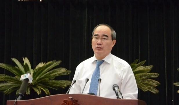 Bí thư Nguyễn Thiện Nhân phát biểu tại hội nghị. Ảnh: TÁ LÂM