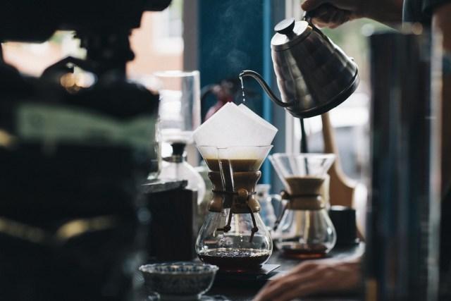 Making fresh coffee