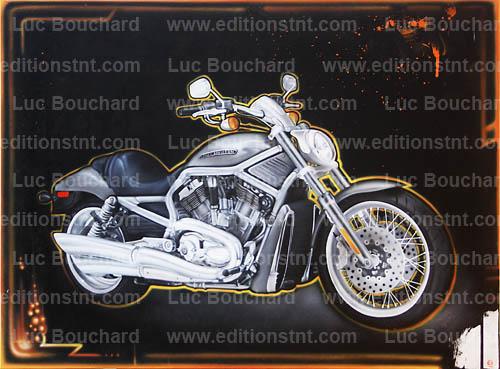 Toile Graffiti Art Peintre Hip Hop Moto Harley Davison