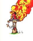 feu cigarette cancer sante champignon graffiti