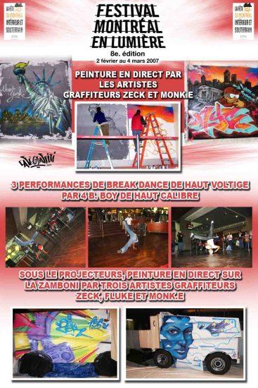 Affiche Fresque graffiti Festival Montréal en Lumière