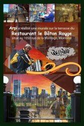 Affiche fresque murale restaurant Bâton Rouge