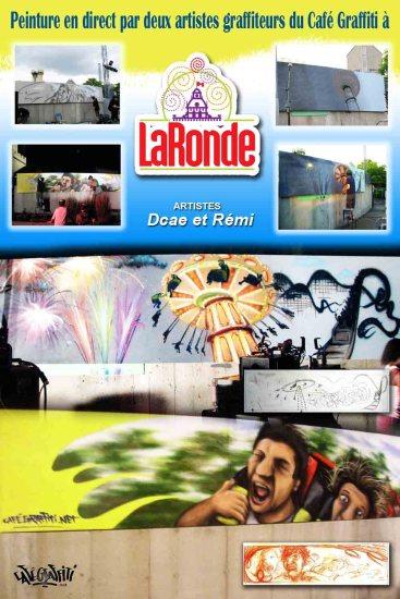 Affiche murale graffiti La Ronde