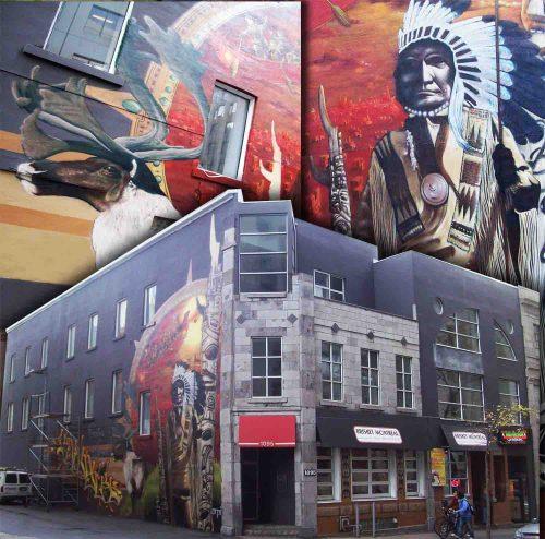 artistes du Café-Graffiti au restaurant Briskets