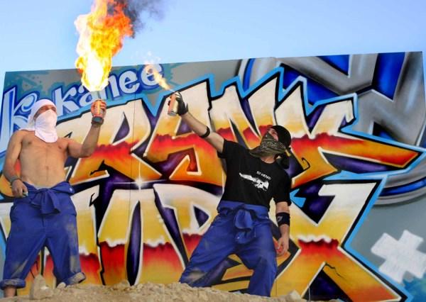 Graffitis événement Crankworx Whistler