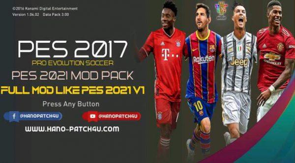 PES 2017 Full Mod PES 2021 V1