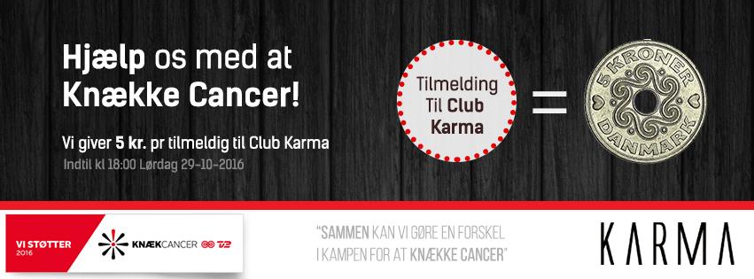 Knæk Cancer – Tilmeld dig Club Karma