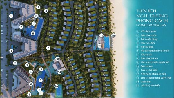 Mặt bằng khu du lịch nghỉ dưỡng Shantira Beach Resort and Spa Hội An