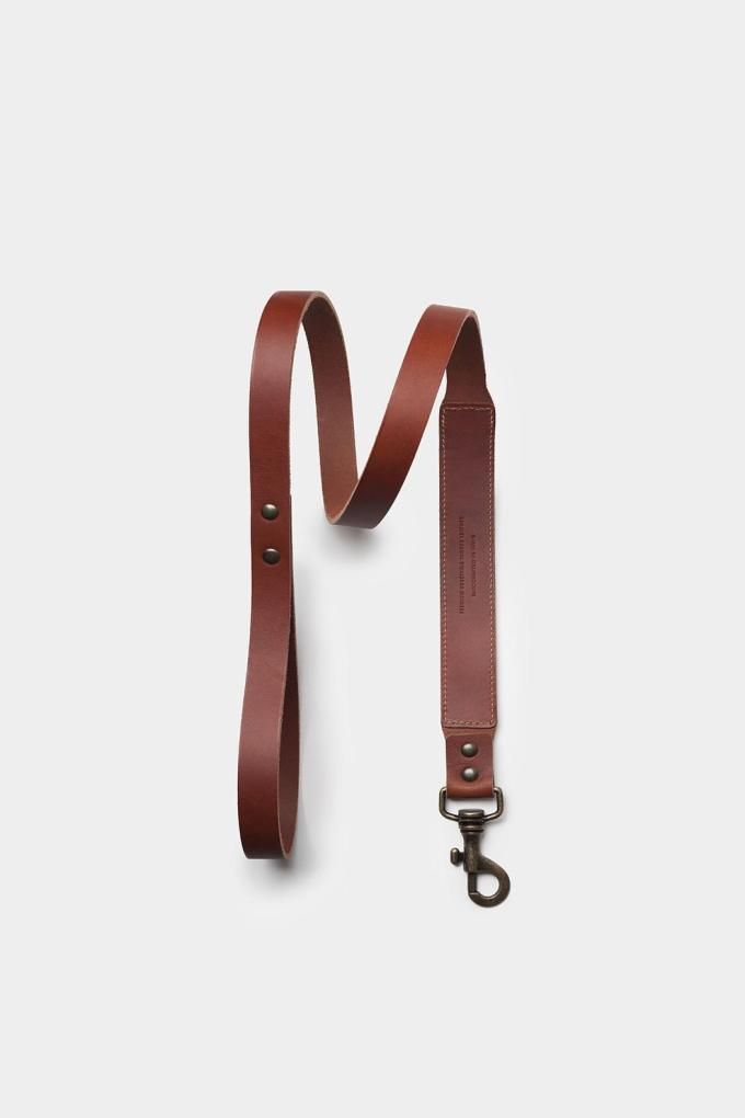 Leather Dog Leash Brown