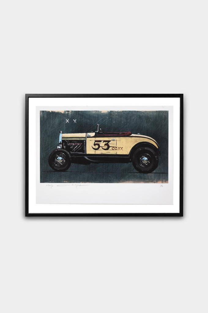 Print of the Hot Rod made by the artist Manu Campa