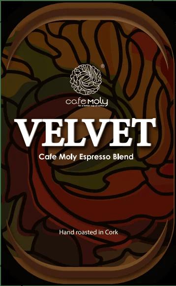 Velvet Cafe Moly Espresso Blend label