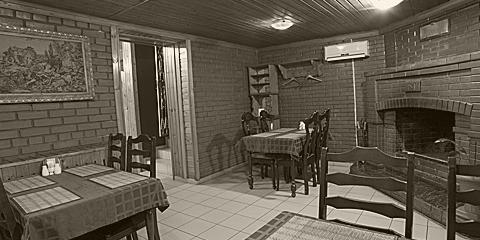 Каминный зал в кафе Принцесса