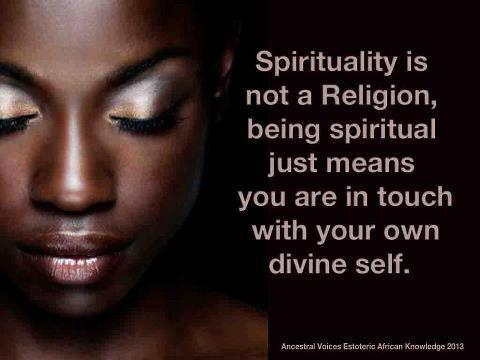 Spirituality is not a Religion