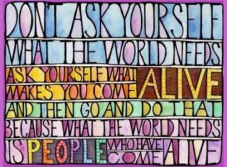 world needs alive people