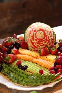 fresh fruit platter for a wedding dessert table from cafe pierrot in northern new jersey