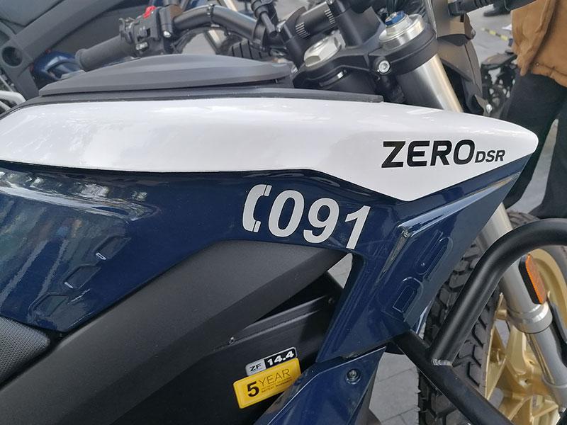 moto eléctrica policia nacional