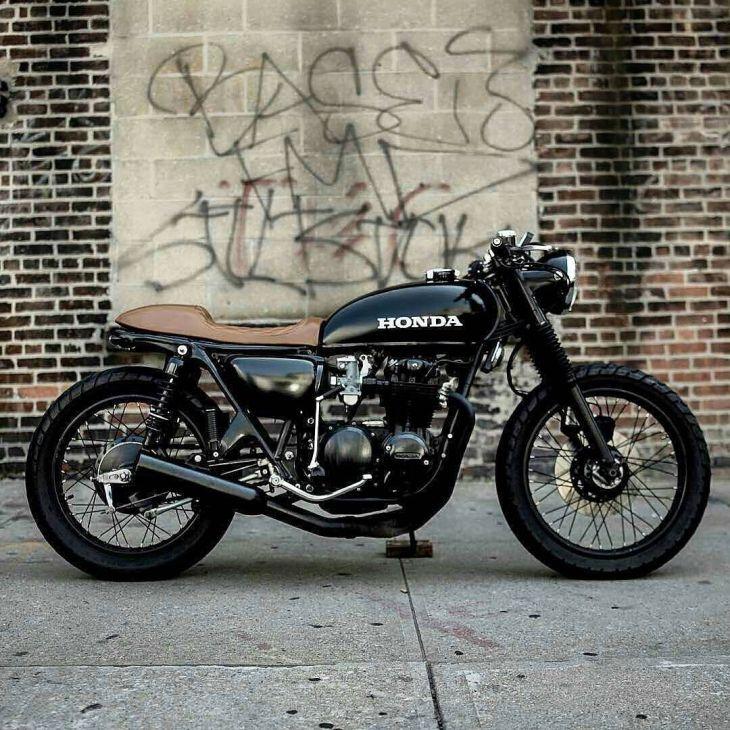 #Honda CB500 photo by ??? . #caferacer #caferacers #caferacersofinstagram #caferacersculture #caferacerbuilds #vintage #vintagestyle #vintagefashion #motocycle #moto #motos #motorcycles #oldstyle #oldschool #bratstyle #motorbike #motor #helmet