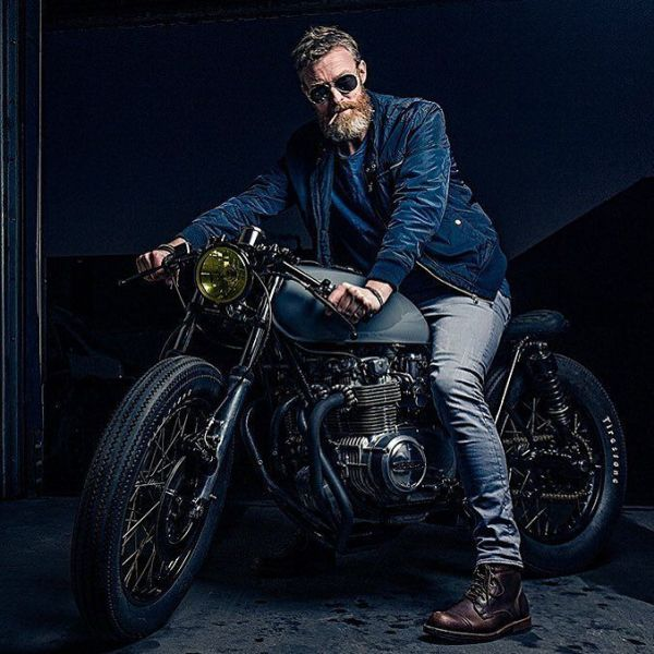 "By @gentsandpirates ""I think best when I have a wrench in my hands"" Shot for @gentsandpirates by @bashermsenfotografie & built by @arjanvandenboom, Ironwood Custom Motorcycles"