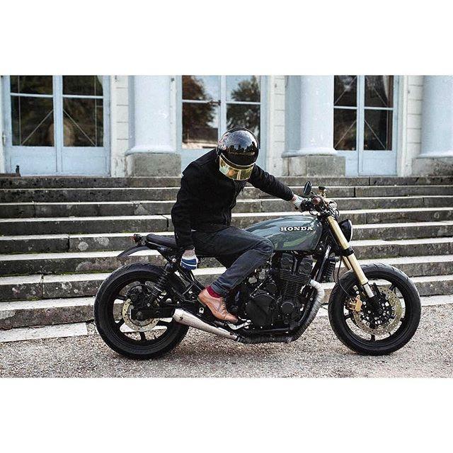 @fliflac and his Honda CB750 📷 @klaranorthphotography