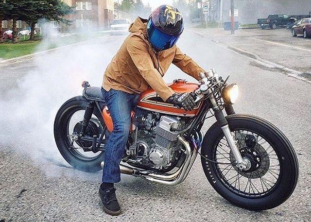 @mikesalek on his Honda CB 750 Four
