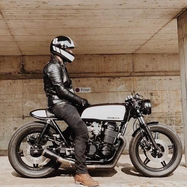 @itsmrjones on his Honda CB 750 ️ by @kaspeed.moto   @carmen.cita.jones