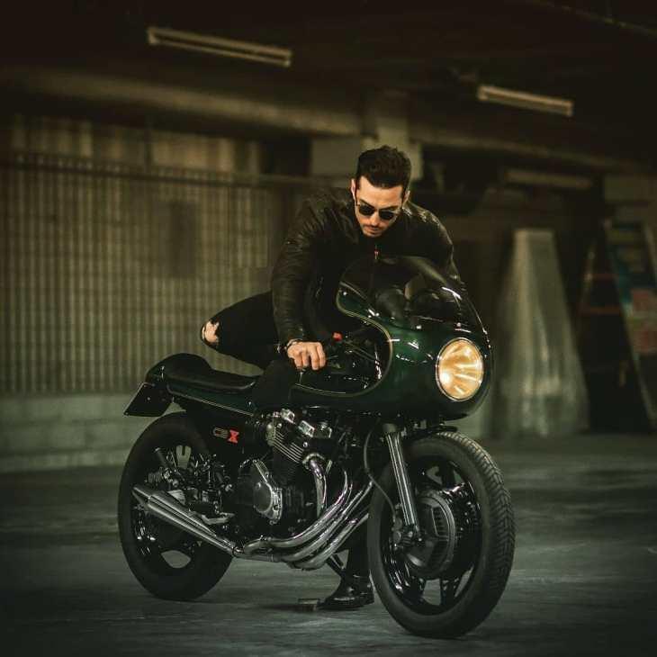 @sereniluca on his Honda CBX550