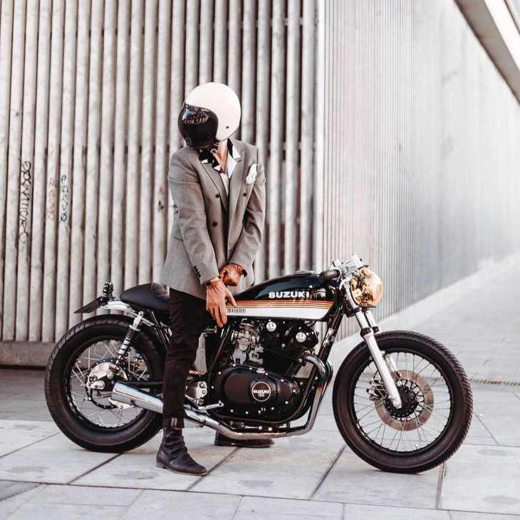 Suzuki GS650 📷: @alangoesnuts .  @cafeleather