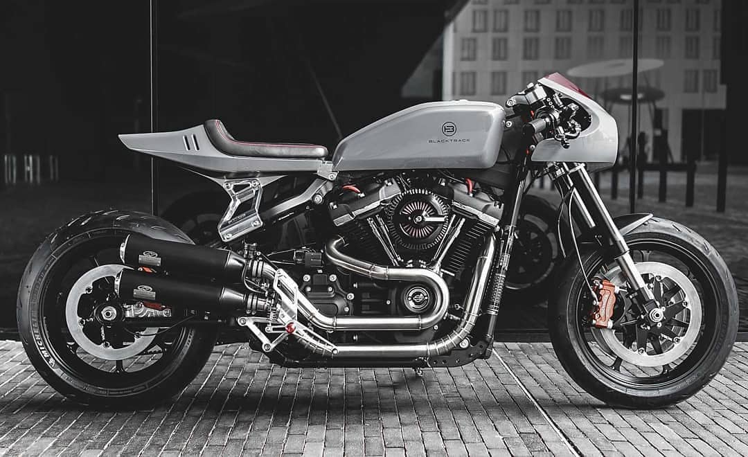 Tomorrow its the day!! 373 miles ridden a Fat Bob 2019… But Who said that with this model its imposible to create a Caferacer? Look this gorgeous machine by  @sachalakic / @blacktracklifestyle