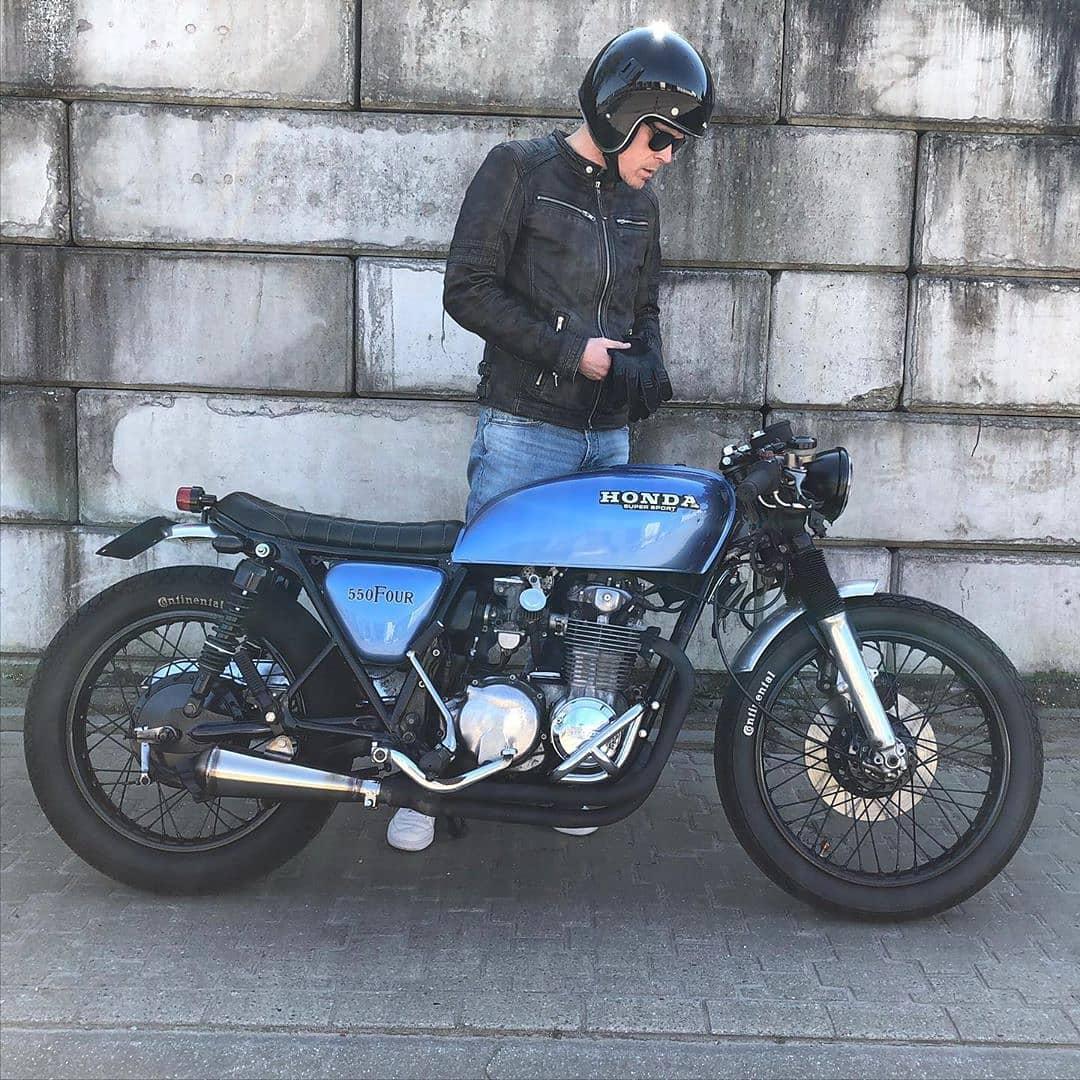 Honda CB550 by @king.kustom