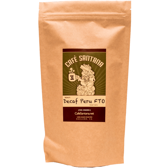 Cafe Santana Organic Decaf Peru Fair Trade