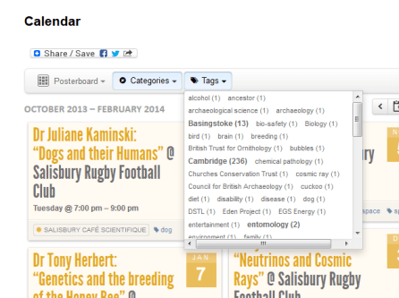 Calendar Tag list
