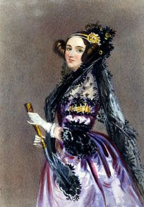 """Ada Lovelace portrait"" by Alfred Edward Chalon"