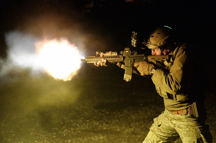 103rd Rescue Squadron trains at the firing range