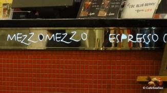 Mezzo Mezzo decoration at Segafredo Espresso in Jamsil, with zoom