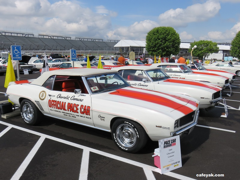 A Fabulous Pace Car Reunion At Indianapolis Motor Speedway 2016