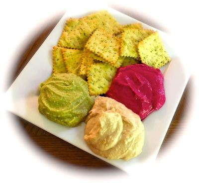 hummus tricolor plate