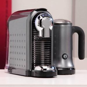 Кафе машина за капсули Carina Dark Grey с кана на супер цена