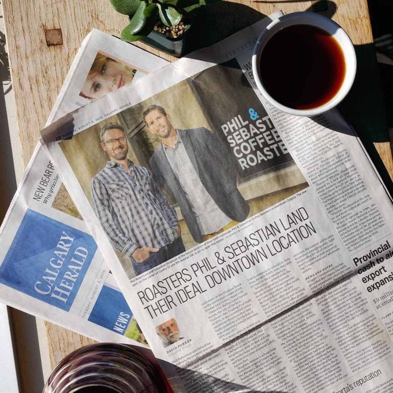 PHIL & SEBASTIAN 咖啡兩位創辦人當地媒體報導