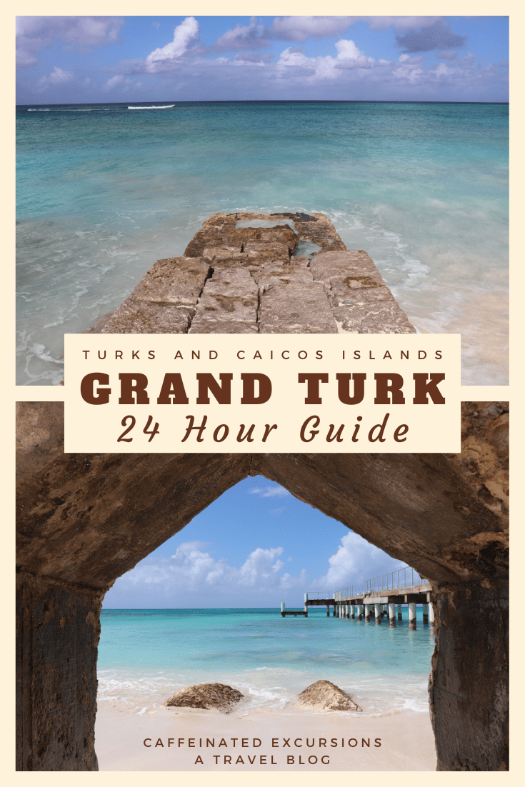 Everyone headed to the Turks and Caicos Islands should spend at least a full day on Grand Turk if they can! See what this beautiful island has to offer in my 24-hour guide. #turksandcaicos #turksandcaicosislands #tci #grandturk #cockburntown #visittci #visitgrandturk #24hourguide #caribbean #turksislands #salinas #saltrakerinn #barbiesbarandrestaurant #caribbeanfood #caribbeanbeaches