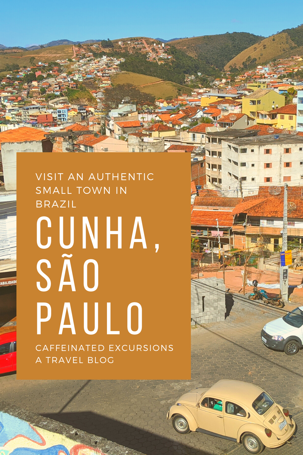Check out this post to learn about an idyllic small town situated halfway between São Paulo and Rio de Janeiro! #cunha #cunhabrazil #cunhabrasil #cunhasp #cunhasaopaulo #cunhasãopaulo #cunhasaopaulobrasil #cidadedecunha #cunhense #visitbrazil #travelbrazil #braziltourism #smalltowntravel #visitsmalltowns #hiddengems #travelsouthamerica #southamericatravel #brazil #brasil #estadodesaopaulo #estadodesãopaulo #saopaulostate #sãopaulostate #travelblog #travelblogs #caffeinatedexcursions