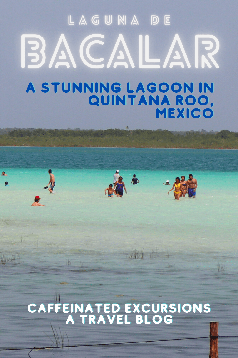 "Check out this post to learn all about Bacalar, my favorite lagoon in Mexico! Known as ""Laguna de siete colores"" (lagoon of seven colors) in Spanish for the wide variety of shades of blue in the water, Bacalar is a small town you won't want to miss! #bacalar #laguna #lagunadebacalar #bacalarmexico #mexico #quintanaroo #bacalarquintanaroo #mexicobacalar #visitmexico #visitbacalar #visitquintanaroo #chetumal #chetumalmexico #visitchetumal #mexicobelizeborder #belizemexicoborder #travelblog"