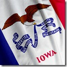 Iowa Flag Closeup