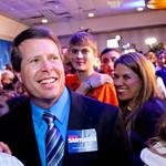 Jim Bob Duggar at the Rick Santorum Caucus Night Victory Party