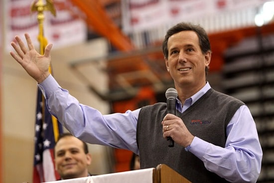 Rick Santorum speaking at Valley High School