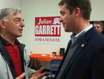 Julian Garrett with A.J. Spiker