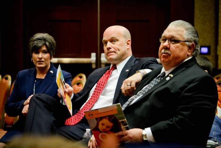 Joni Ernst, Matt Whitaker, and Sam Clovis participated at the NICHE Homeschool Day at the Capitol on 3/18/14. Photo credit: Dave Davidson – Prezography.com