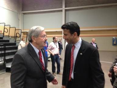Gov. Jindal with Iowa Gov. Terry Branstad during Iowa GOP State Convention