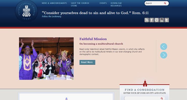 pcusa.org screenshot