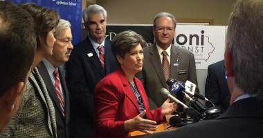 Joni Ernst at AgriVision in Ankeny, IA.