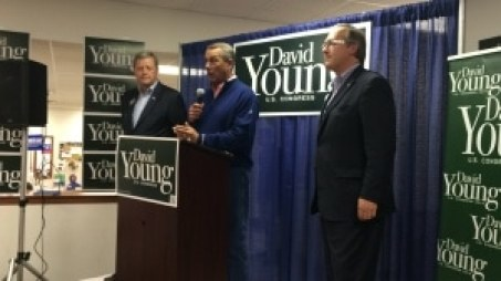 From left: Congressman Tom Latham (R-Iowa), Speaker John Boehner (R-OH) and David Young.